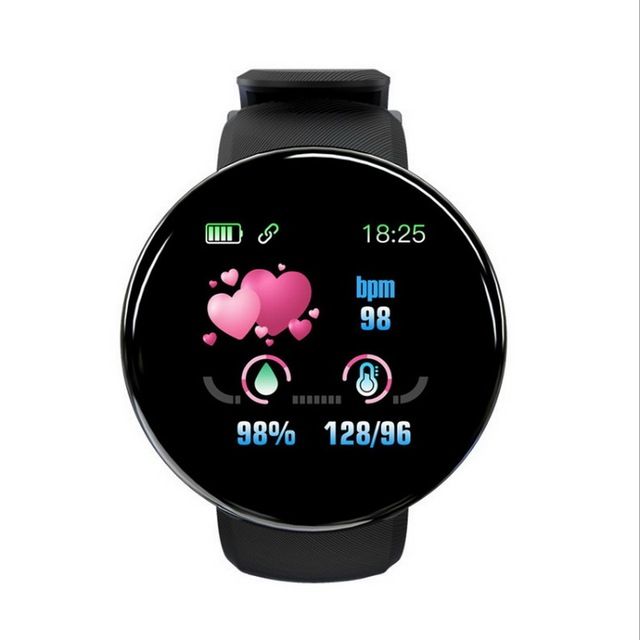 Relógio inteligente para homem e mulher, esportes pulseira, controle de pressão arterial, bluetooth, android ios esporte à prova dwaterproof água relógio inteligente 1