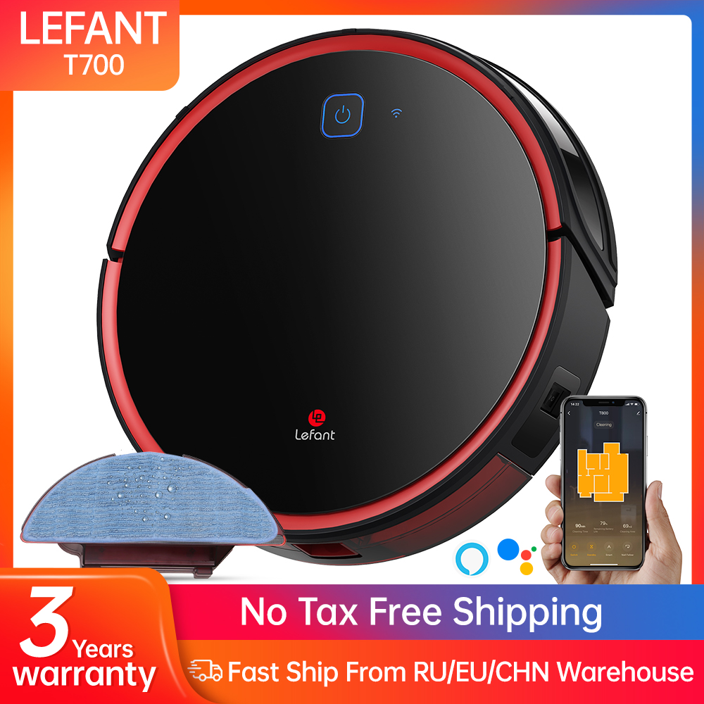 Lefant T700 Robot Vacuum Cleaner Sweep and Wet Mopping Disinfection For Hard Floors&Carpet Run 120mins Automatically Charge APP