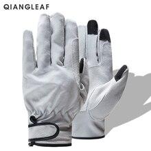 QIANGLEAF фирменный продукт свиной спилок сварочные рабочие перчатки износостойкие защитные перчатки для рабочих кожаные рабочие перчатки 321