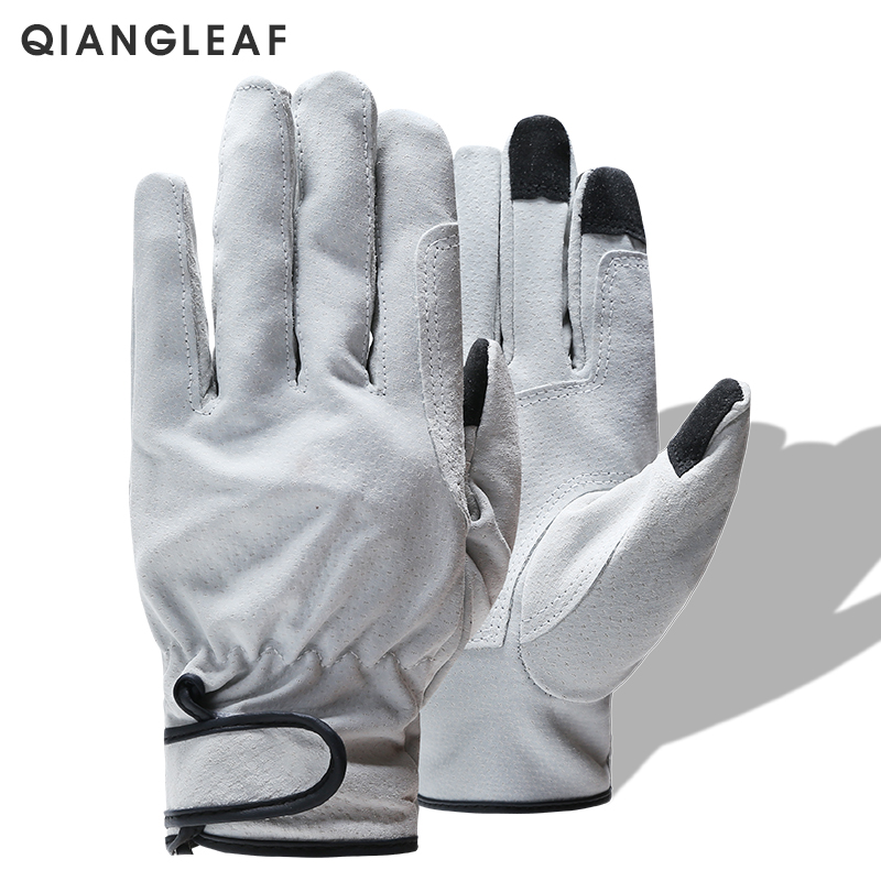 QIANGLEAF Brand Product Split Light Welding Work Gloves Wear-resistant Safety Gloves For Workers Leather Working Glove 321