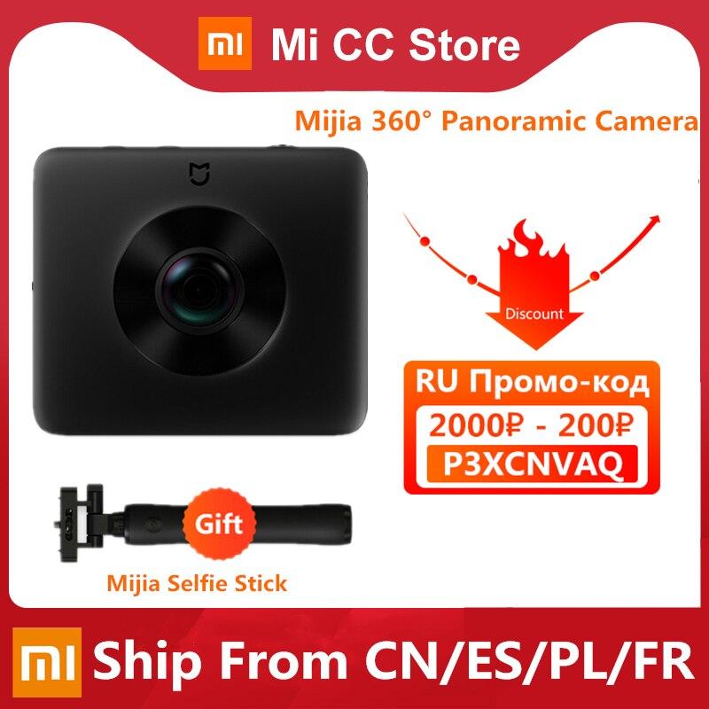 Оригинальная панорамная камера Xiaomi Mijia с углом обзора 360 °, сферическая камера для записи видео IP67 3,5 K, класс Wi-Fi, Bluetooth, Мини спортивная видеок...