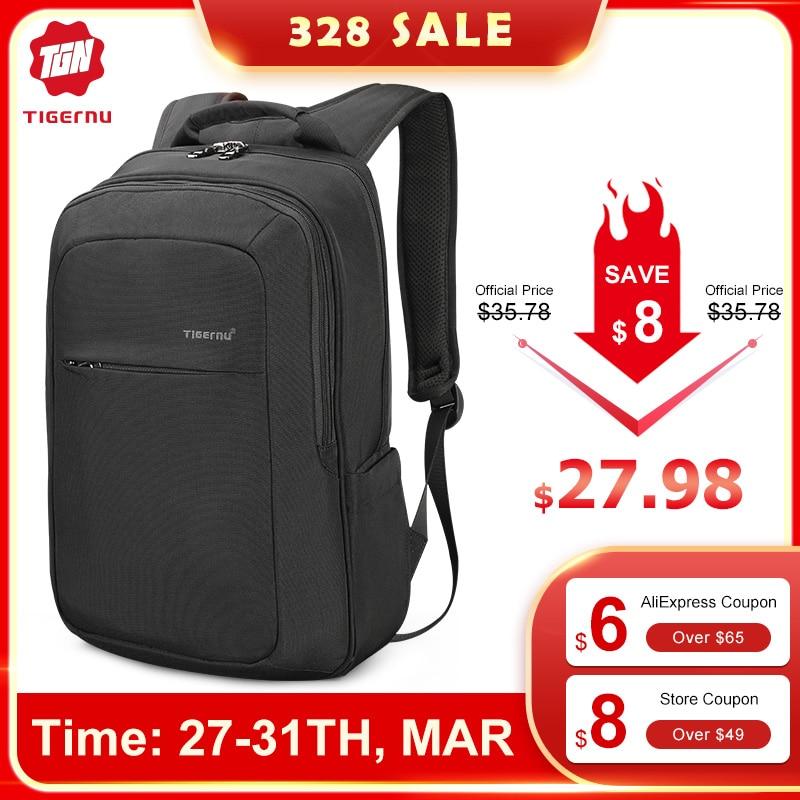 "Tigernu Fashion New High Quality Waterproof 15.6""Laptop Backpacks Men Women Travel Schoolbags Casual Light Mochilas Male Female"