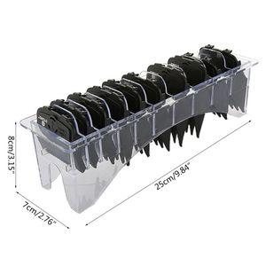 Image 2 - 10 ピース/セットガイド制限櫛セットボックス電気バリカン切削工具キット黒、赤、青 + ベース
