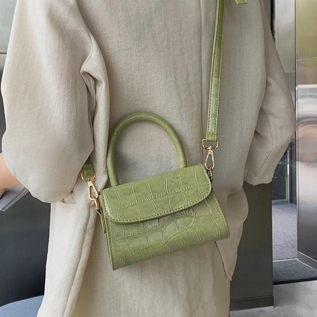 Crocodile Pattern Crossbody Bags For Women 2020 Small Chain Handbag Small Bag PU Leather Hand Bag Ladies Designer Evening Bags Uncategorized Fashion & Designs Ladies Bags Luggage & Bags Women's Fashion