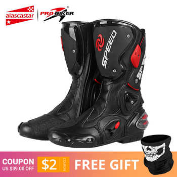 PRO-BIKER SPEED BIKERS Motorcycle Boots Men Moto Racing Motocross Off-Road Motorbike Motorcycle Shoes Botas Moto Riding Boots - DISCOUNT ITEM  45% OFF All Category