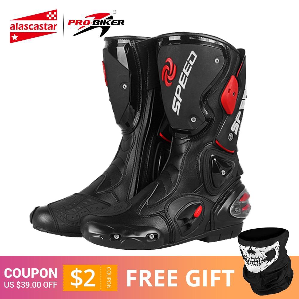 PRO BIKER байкерские мотоциклетные ботинки для мужчин, мотогонок, мотокросса, внедорожных мотоциклов, мотоциклетная обувь, ботинки для верховой езды