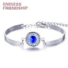 цена на Shiny Rhinestone Women Bracelet Gold Friendship Chain Link Cuff Bracelets Female