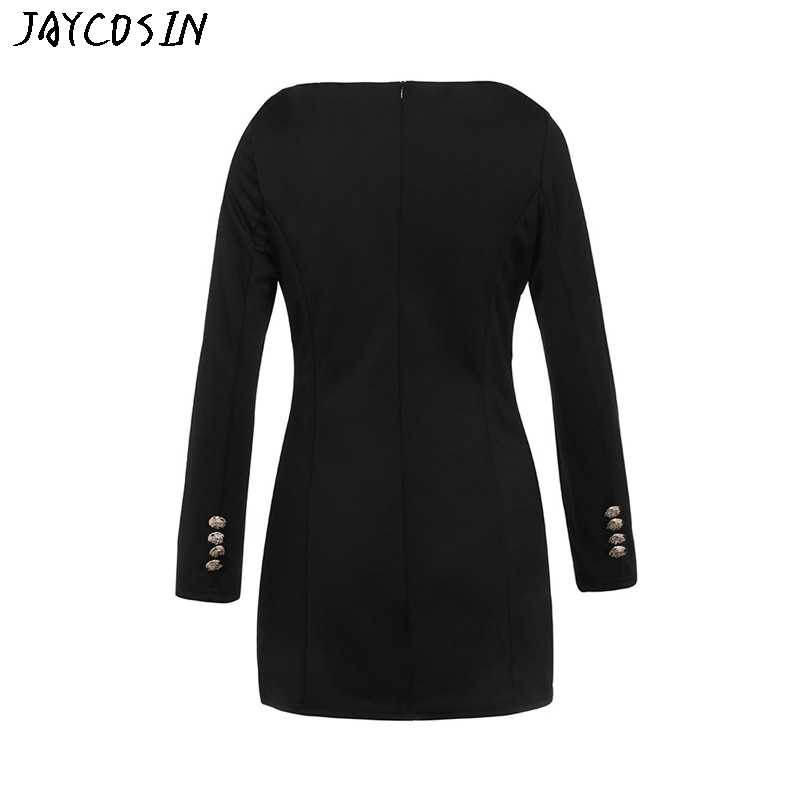 JAYCOSIN かわいいハロウィーンドレス 2019 女性スリム長袖ボタンカジュアルボディコンカクテルミニドレス Jurk Vestidos Elbise