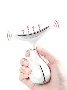 Image 5 - LED פוטון טיפול צוואר ופנים הרמת לעיסוי רטט עור להדק להפחית סנטר כפול נגד קמטים להסיר מכשיר