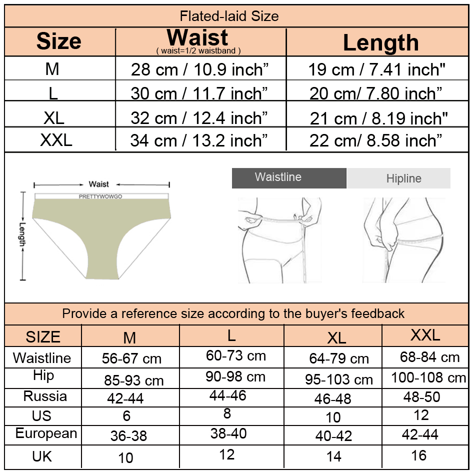 Prettywowgo Panties Seamless Briefs Transparent Lingerie Women Underwear Sexy Lace Silk