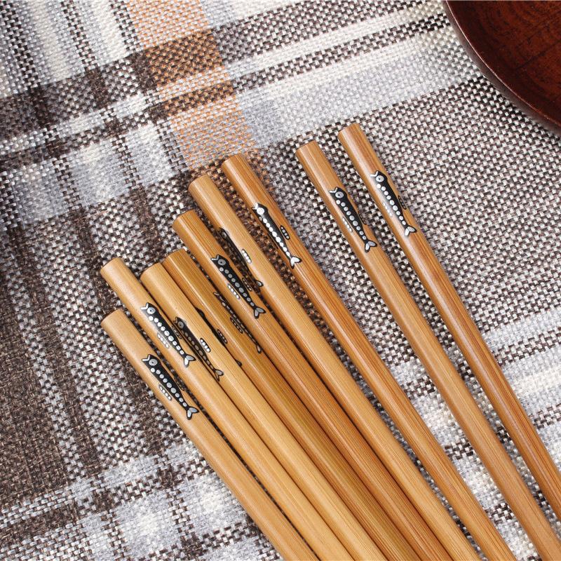 50 пар ручных палочек для еды из натурального бамбука здоровые