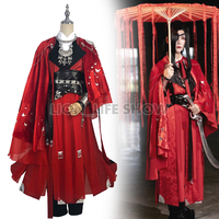 Heaven Official's Blessing Desperate ghost king Hua cheng Cosplay Tian guan ci fu Red Long Cosplay Costmes with cloak all set