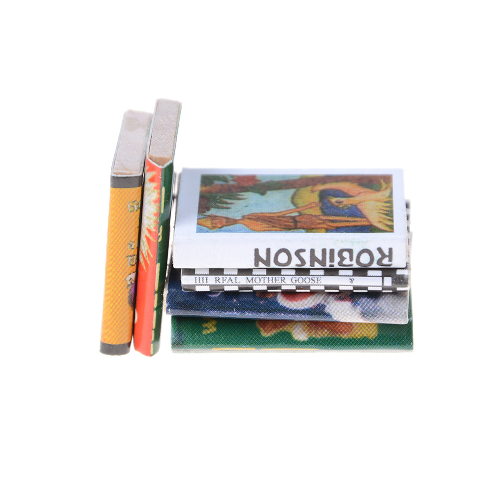 3Pcs 1//12 Miniature Scene Model Dollhouse Accessories Mini Book Paper Toy