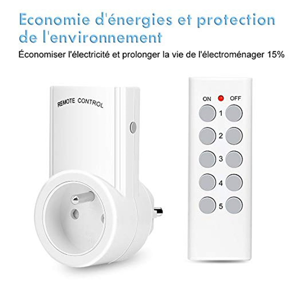 Set Of 5 Programmable Remote Receptacle Kyg Wireless Home Automation Receptacle Two Remotes And Four Batteries Included