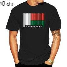 Print T Shirt Mens Short Sleeve Hot Madagascar Barcode Style Flag - Mens Crewneck T-Shirt - 7 Colours T-Shirt