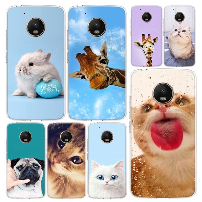 Cute Animals Phone Case Cover For Motorola Moto G8 G7 G6 G5S G5 G4 E6 E5 E4 X4 Play Plus Power + One Action Coque