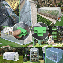 Pipe-Clamps Greenhouse-Clamps-Clips Shed-Film Plant Shading for Outer-Diameter Row-Cover