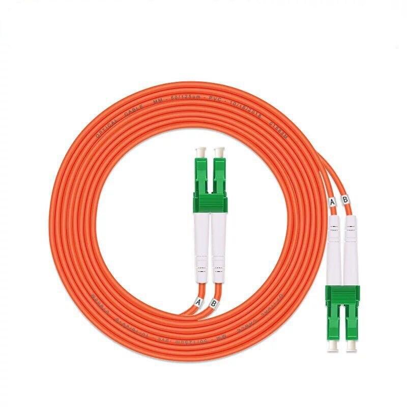 5 шт./лот LC/APC-LC/APC Волоконно-оптический патч-корд 1 м 2 м 3M 5 м дуплексный многомодовый кабель FC-FC оптического волокна Перемычка ММ DX Бесплатная ...