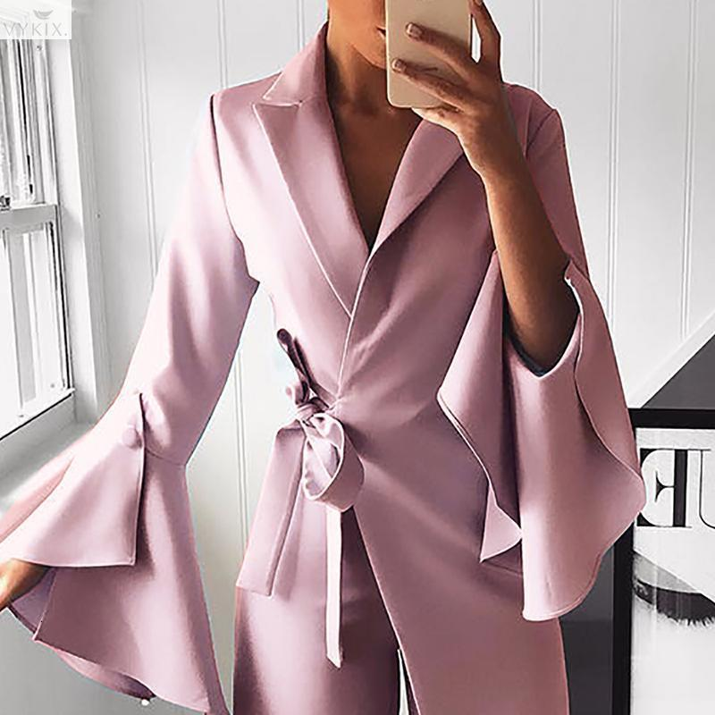 Sexy Jumpsuit Women V-neck Wide Leg Long Sleeve Elegant Women Romper Office Lady Slim Fit Long Party Playsuit One Piece Outfits