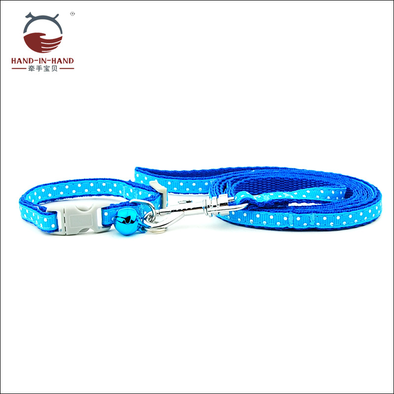 Hand-in-hand Manufacturers Direct Selling Wholesale Pet Traction Rope 0 8cm Toy Dog Only Dotted Lace Pull Neck Band