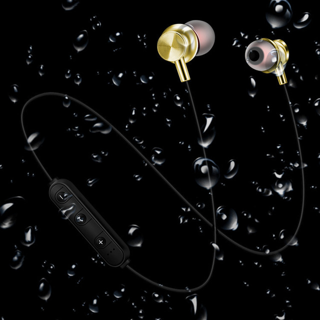 Sports magnet Stereo Bluetooth Earphone With HD Mic Wireless Sport Headset Earbuds For Android IOS 5