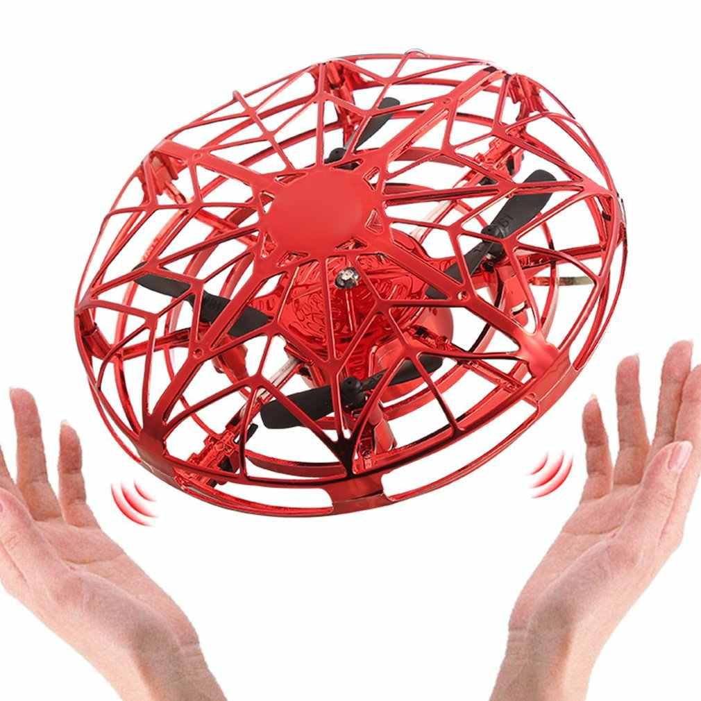 Mini hélicoptère volant UFO RC Drone main détection avion modèle électronique quadrirotor flayaball jouets petit drohne pour les enfants