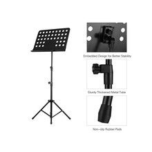 Portable Metal Music Stand Detachable Musical Instruments for Piano Violin Guitar Accessories p csige prelude for piano and violin