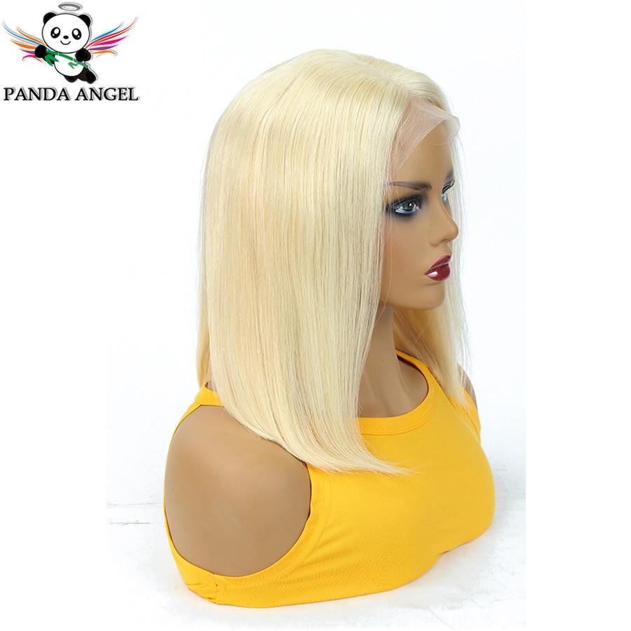 Панда 613 13x4 Мёд блондинка Синтетические волосы на кружеве парики индийские прямые волосы блондинка короткие боб парики из натуральных