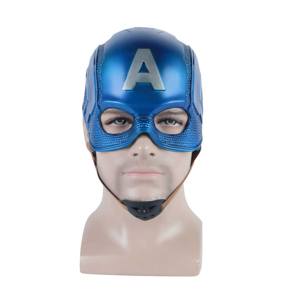 Captain America 3 Civil War Captain America Helm PVC Lembut Cosplay Steven Rogers Superhero Lateks Topeng Pesta Halloween Prop