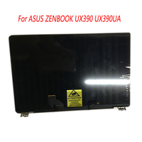 12.5 inç Laptop komple LCD ekran ekran paneli çerçeve ile üst ASUS ZENBOOK 3 için tam meclisi UX390 UX390UA UX390UAK
