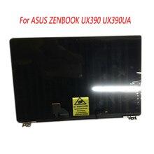 Panel de pantalla LCD completa para ordenador portátil de 12,5 pulgadas con marco superior, medio montaje completo para ASUS ZENBOOK 3 UX390 UX390UA UX390UAK