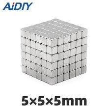 10 шт. Блок Магнит 5x5 × 5/2/3 10 × 3/4/5/10 × 2 мм квадратный блок сильные магнитные неодимовые магниты Редкоземельные постоянные
