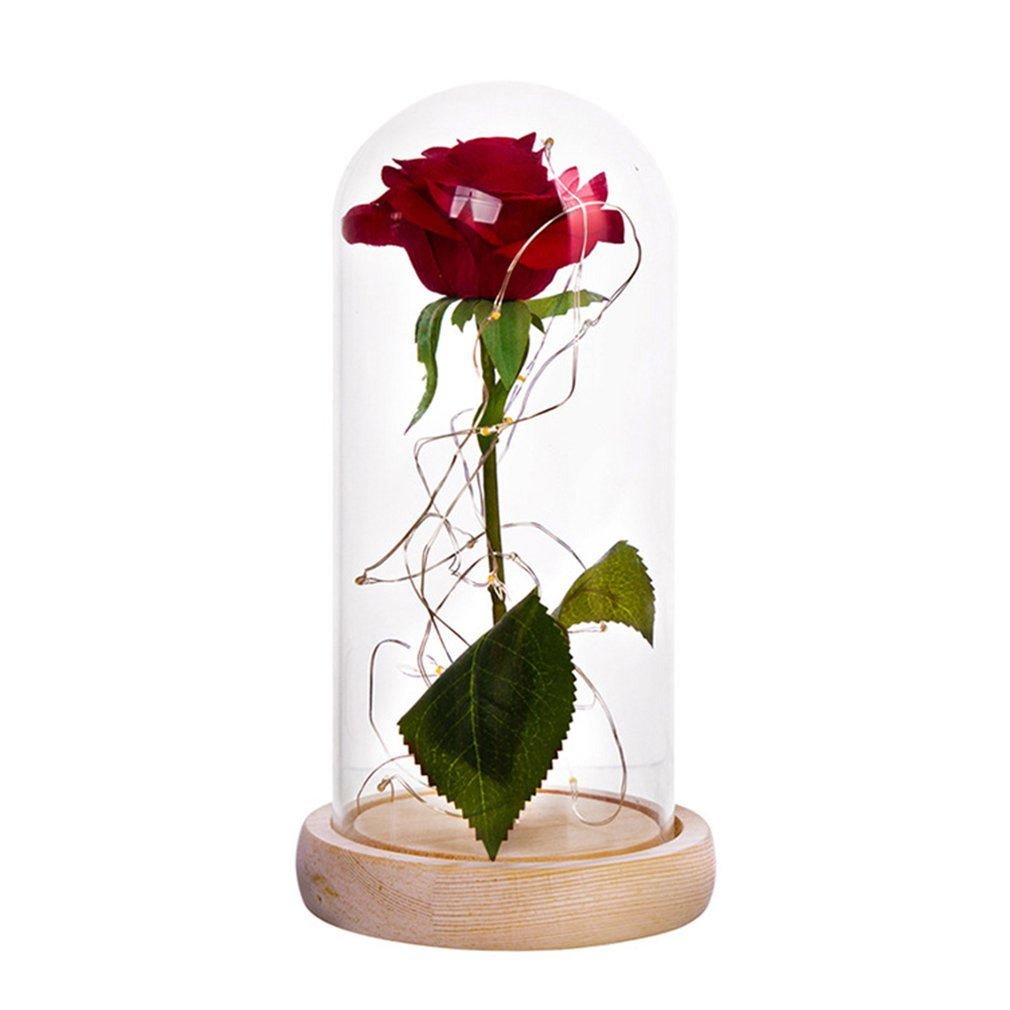Party Wedding Valentine Gift Rose In Glass Dome Forever Rose Red Rose Preserved Rose Belle Rose Special Romantic Gift
