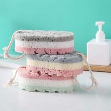 Bath Sponge Brush Shower Skin Clean Massage Soft SPA Foam Dead Skin Remover Moisturizing Scrubber for Kids Adults Rope Holder