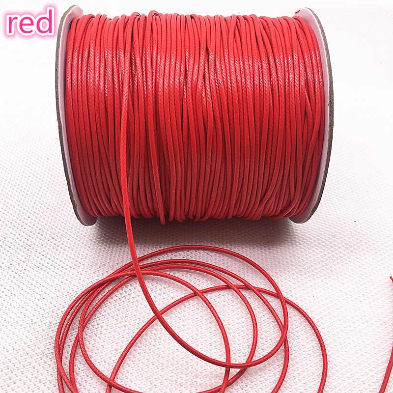 10M Dia 1.0 /1.5mm woskowany sznurek bawełniany woskowana nić przewód String Strap sznur naszyjnika koralik do tworzenia biżuterii DIY bransoletka