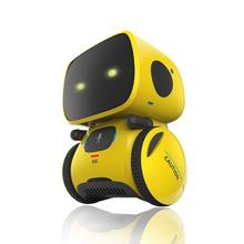 Baby Robot Toys Intelligent RC Smart Robot Intelligent Voice  Control DIY Body Toy with Dancing Winking Model for Kid Products