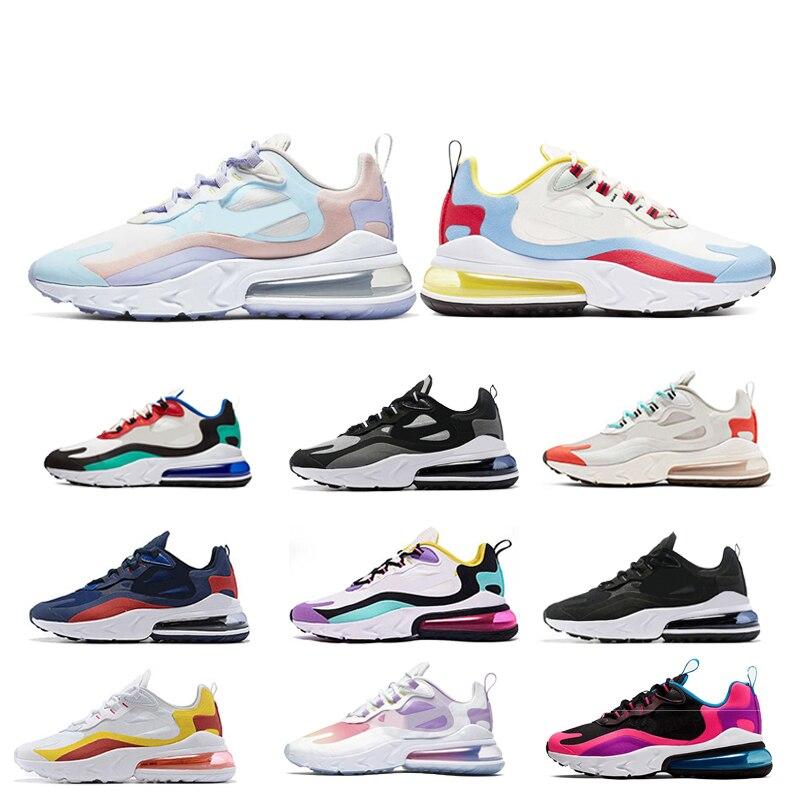 2020 React Men Running Shoes 270 BAUHAUS OPTICAL Triple Black Fashion Womens Mens Trainer Breathable Sports Sneakers