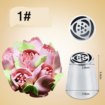 Flower Icing Nozzles Stainless Steel Pastry Tube Cream Piping Tips Nozzle Fondant Cake Decorating Tools 5