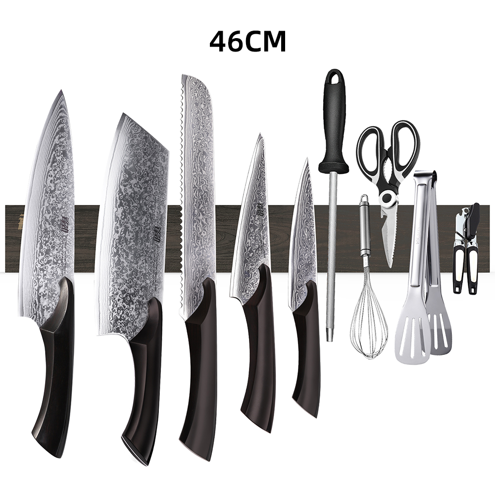 New design FINDKING Powerful Magnetic Knife Strip Handmade Acacia wood knives Holder Wall Mount Block  3pcs 12' 16' 18 inch rack