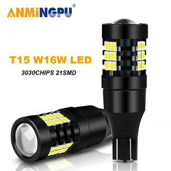 ANMINGPU 2x Signal Lamp T15 W16W Led Bulb 21SMD 3030Chips T15 912 921 Led Canbus Car Reverse Light Backup Light Tail Lamps 12V