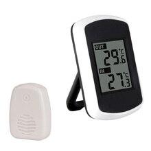 Беспроводная метеостанция, цифровой Крытый Открытый термометр, дистанционный датчик, домашняя метеостанция