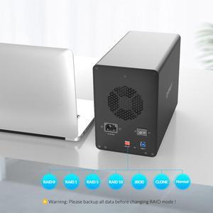 Image 4 - ORICO 35 سلسلة المؤسسة 5 خليج 3.5 قاعدة تركيب الأقراص الصلبة USB3.0 إلى SATA مع غارة قالب أقراص صلبة 150 واط الطاقة الداخلية HDD