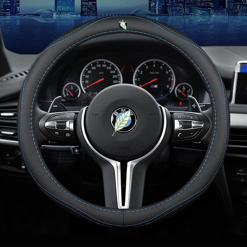 Car Steering Wheel Cover Set for BMW 1 2 3 4 5 6 7 Series F10 F20 F21 F22 F23 F45 F46 F30 F31 Breathable Car Styling Accessories image