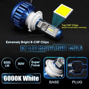 Image 2 - MAXGTRS H1 H4 Hi/Lo wiązka H7 H8 H11 9005 HB3 9004 H27 880 881 żarówki LED do reflektorów samochodowych 80W CSP LED reflektor samochodowy przeciwmgielne przednie światła