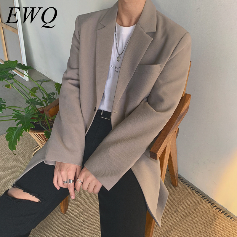 EWQ / Men's Wear 2020 Spring Fashion New Suit Trend Single Breasted Blazers For Male Handsome Korean Style Loose Coat 9Y893