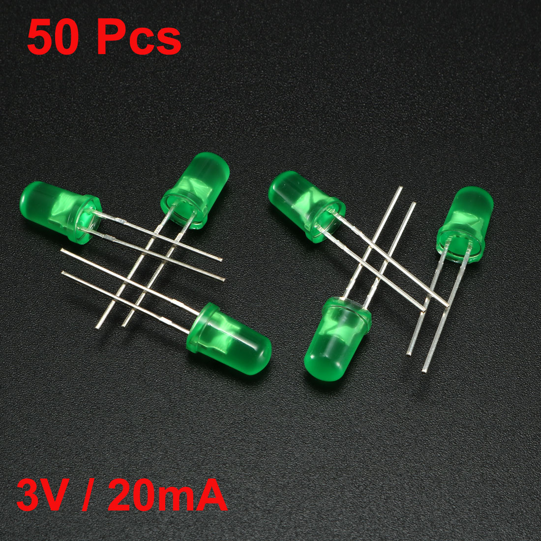 Uxcell Fast Flashing Dynamics LED Diode Lights Bright Lighting Bulb Lamps Electronics Components 50pcs Green