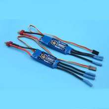 1PC 30A 40A Brushless ESC 5V/2A Mini ESC 2S-4S Electric Speed Controller with T Plug for RC Boats Power System Parts tenshock bx80 marine brushless esc
