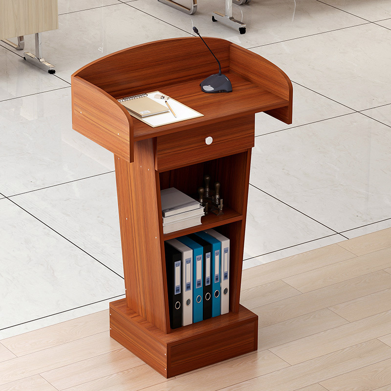 Podium SPEAKER'S Platform Learning Classroom Reception Desk Shopping Mall Shopping Guide Taiwan Conference Host Station Training