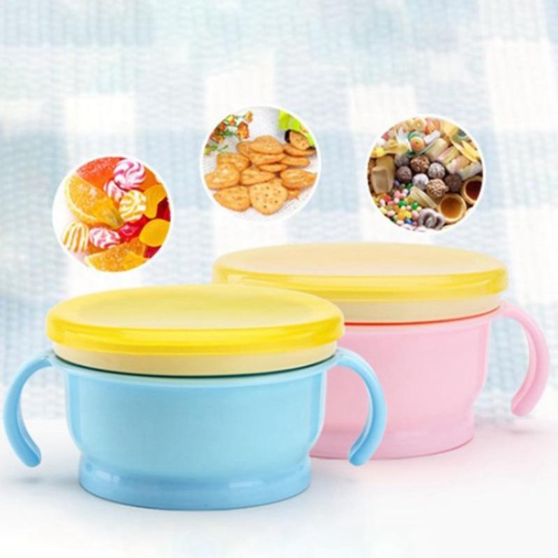 Baby Snacks Bowl Children Kids Food Storage Dishes Anti Spill Baby Solid Feeding Plate Tableware Baby Feeding Stuff