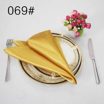 NP002 günstige beliebte 40cm * 40cm nach maß burgund grün blau gold navy silber grau schwarz weiß rot lila satin serviette
